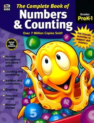 The Complete Book of Numbers & Counting, Grades PreK-1  -