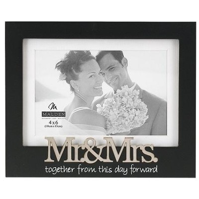 Mr and Mrs Photo Frame, Black  -