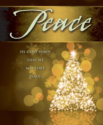 Peace Tree Advent Large Bulletins, Pack of 50  -