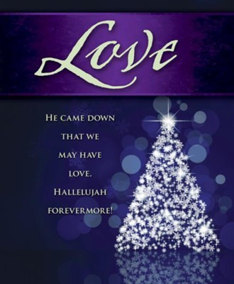 Love Tree Advent Large Bulletins, Pack of 50  -