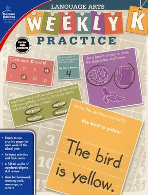Weekly Practice Language Arts, Grade K  -