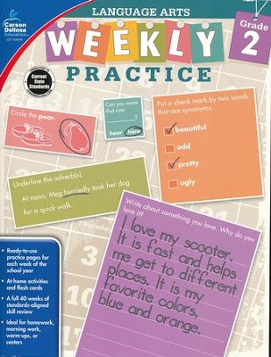 Weekly Practice Language Arts, Grade 2  -