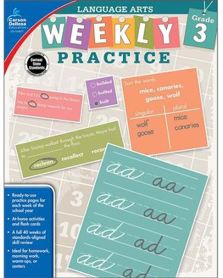 Weekly Practice Language Arts, Grade 3  -