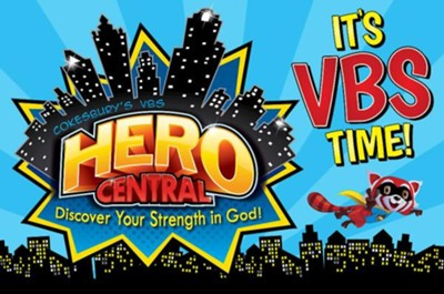 VBS 2017 Hero Central: Discover Your Strength in God! - Invitation Postcards (Pkg of 25)  -