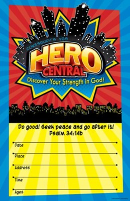 VBS 2017 Hero Central: Discover Your Strength in God! - Large Promotional Poster  -