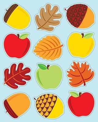Apples, Acorns & Leaves Shape Stickers, Grades PreK-5  -