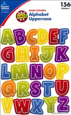 Super Power Alphabet Uppercase Stickers, Grades PreK-5  -