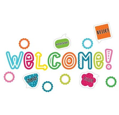 School Pop Welcome Mini Bulletin Board Set, Grades K-5  -