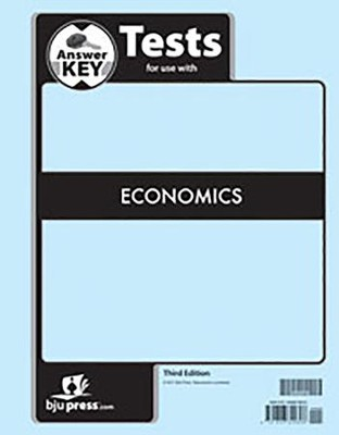 Economics Grade 12 Tests Answer Key (3rd Edition)   -