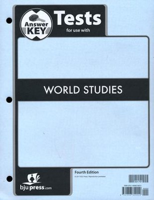 World Studies Grade 7 Tests Answer Key (4th Edition)   -