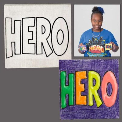 Hero Central & Super God! VBS Craft: Preschool Craft Mini Canvas Art (Pkg of 12)                                                 -