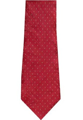 Tiny Crosses Silk Tie, Red   -