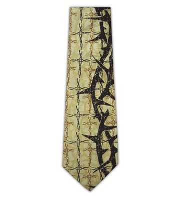 Thorns and Crosses Silk Tie   -