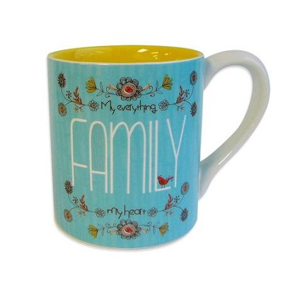 My Everything, Family, My Heart Mug  -     By: Amylee Weeks