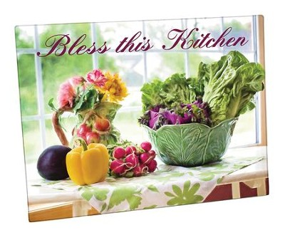 Bless This Kitchen Cutting Board  -
