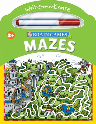 Brain Games Kids Write & Erase: Mazes  -