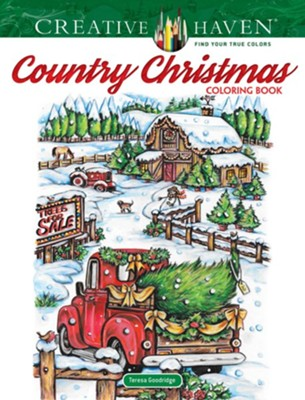 Country Christmas Coloring Book  -     By: Teresa Goodridge