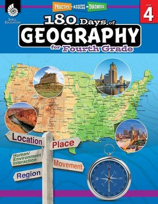 180 Days of Geography for Fourth Grade   -