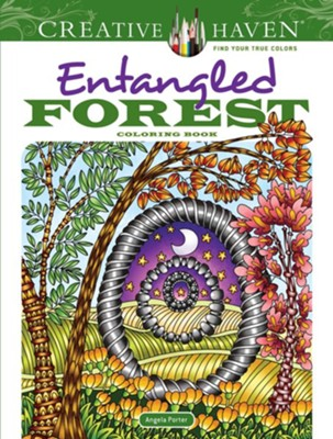Entangled Forest Coloring Book  -     By: Angela Porter