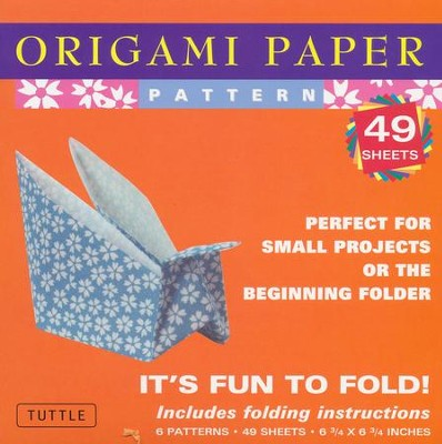 Origami Paper Pattern with 8 page booklet  -