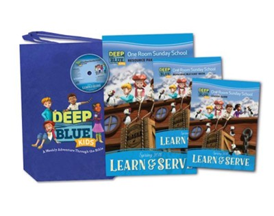 Deep Blue Kids Learn & Serve One Room Sunday School Kit Spring 2018: Ages 3-12  -
