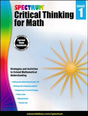 Spectrum Critical Thinking for Math, Grade 1   -