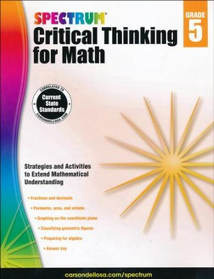 Spectrum Critical Thinking for Math, Grade 5   -