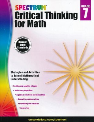 Spectrum Critical Thinking for Math, Grade 7   -
