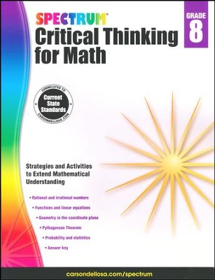 Spectrum Critical Thinking for Math, Grade 8   -