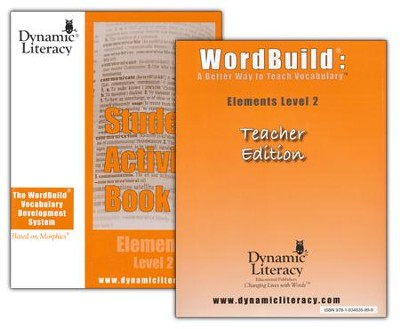 WordBuild &#174: A Better Way To Teach Vocabulary Elements 2 Combo Pack  -