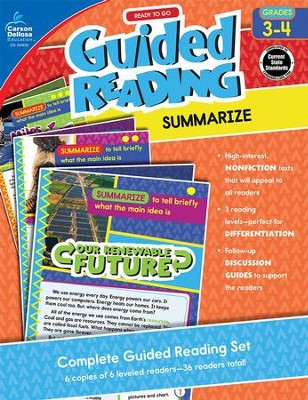 Ready to Go Guided Reading: Summarize Grades 3-4   -