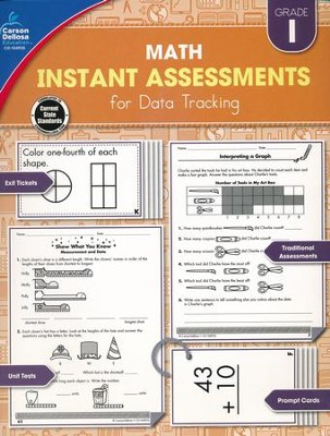 Math Instant Assessments for Data Tracking, Grade 1   -