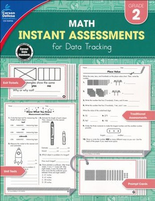 Math Instant Assessments for Data Tracking, Grade 2   -