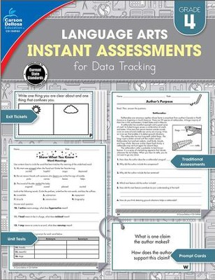 Language Arts Instant Assessments for Data Tracking, Grade 4  -