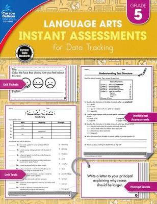 Language Arts Instant Assessments for Data Tracking, Grade 5  -
