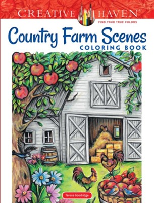 Country Farm Scenes Coloring Book  -     By: Teresa Goodridge