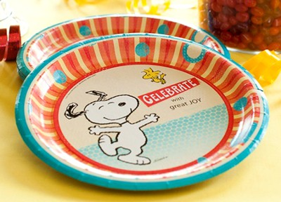 Peanuts Paper Dinner Plates, Pack of 8  -
