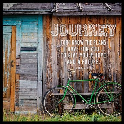 Journey Canvas Box Plaque, Jeremiah 29:11  -