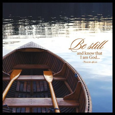 Be Still And Know Canvas Box Plaque, Psalm 46:10  -