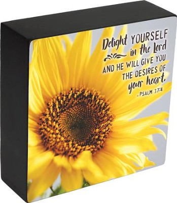 Delight Yourself in the Lord, Psalm 37:4, Box Plaque  -