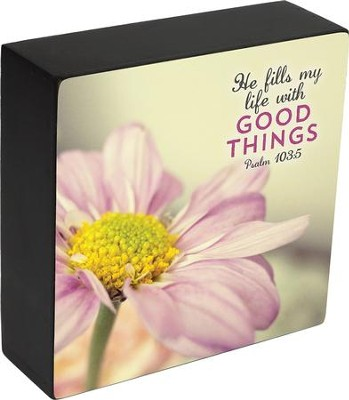He Fills My Life with Good Things, Psalm 103:5, Box Plaque  -