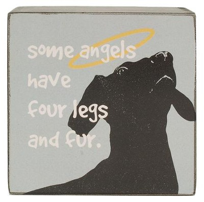 Some Angels Have Four Legs. Dog Box Sign                 -     By: Heidi Dobrott