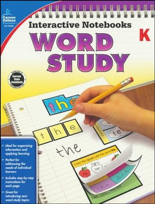 Interactive Notebooks: Word Study, Grade K   -