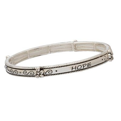 Hope, Stretch Bracelet, Silver  -