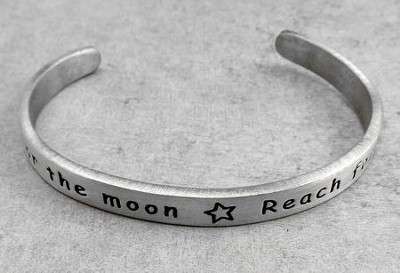 Pewter Cuff Bracelet, Reach For The Moon  -
