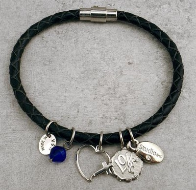 Blessings of Love Leather Charm Bracelet  -
