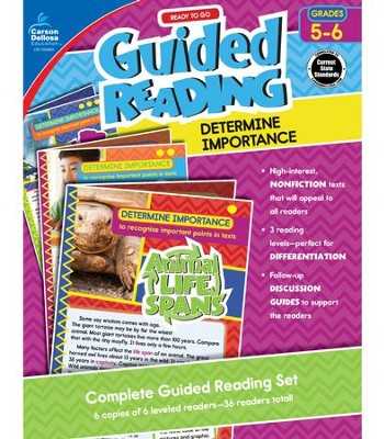 Ready to Go Guided Reading: Determine Importance, Grades 5 & 6  -     By: Nancy Bosse