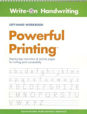 Powerful Printing Left-Handed Workbook  -