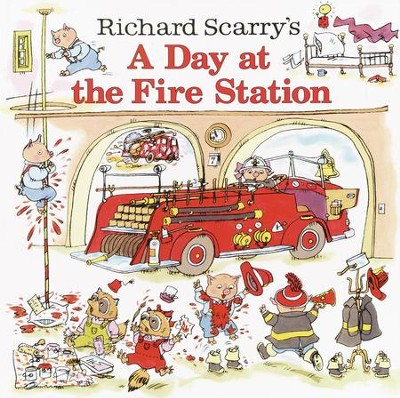 Richard Scarry's A Day at the Fire Station - eBook  -     By: Huck Scarry