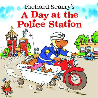 Richard Scarry's A Day at the Police Station - eBook  -     By: Huck Scarry